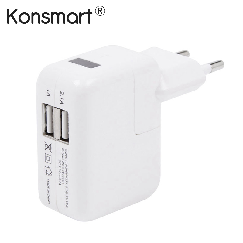 New Euro Two-ports Dual USB Power Adapter Travel Charger fors
