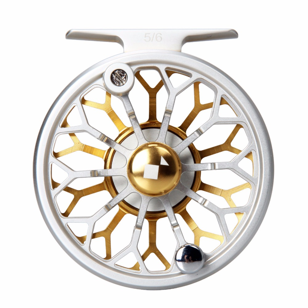 Angler Dream CNC Machined 3/4 5/6 7/8WT Fly Reel 6061 T6 Aluminum Light Weight Fly Fishing Reel Gold Silver Colors angler dream fly fishing combo 3 4 5 8wt carbon fiber fly rod kit cnc machined fly fishing reel