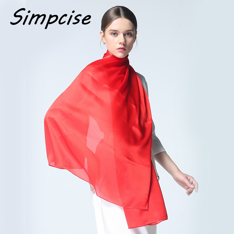 Long shawl Women Solid color Silk Scarf Luxury hijab scarf Long Scarves Fashion Summer Scarf Luxury woman Shawls S9A189039