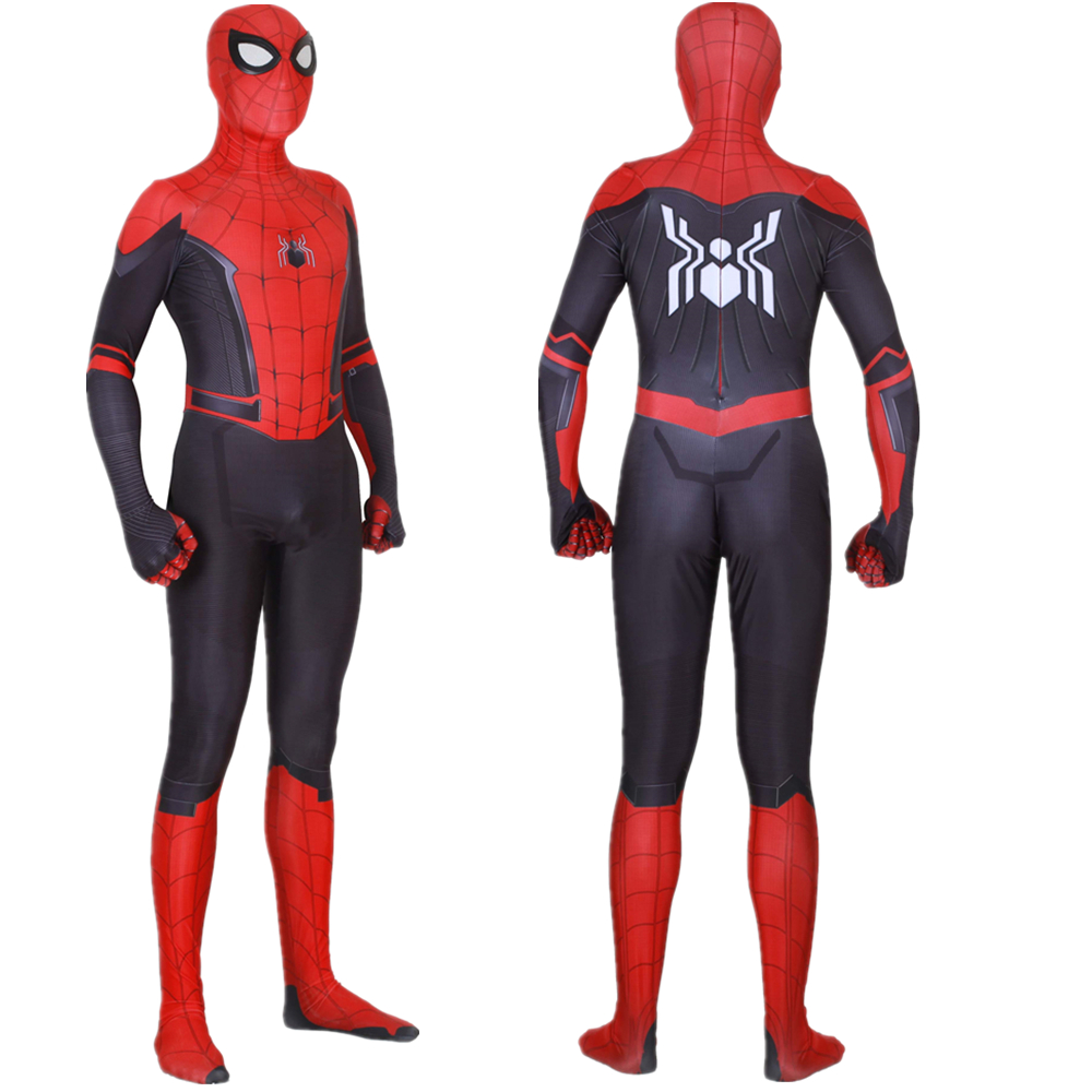 Adult Kids Peter Parker Spider-Man: Far From Home Jumpsuit Cosplay Costume Bodysuit Spiderman Zentai Superhero Suit