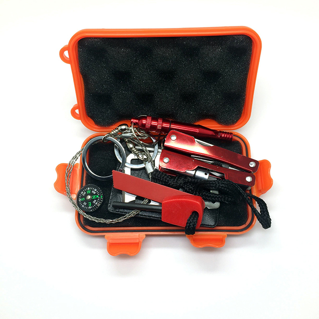 1 Set Outdoor Emergency Equipment Self-help Box
