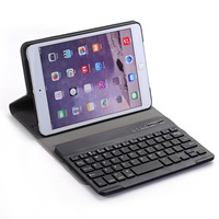 Multifunctional Wireless Bluetooth Keyboard Ultra Thin PU Leather ABS Keyboard Removable Tablet Cover Holder For IPad 9.7 10.5