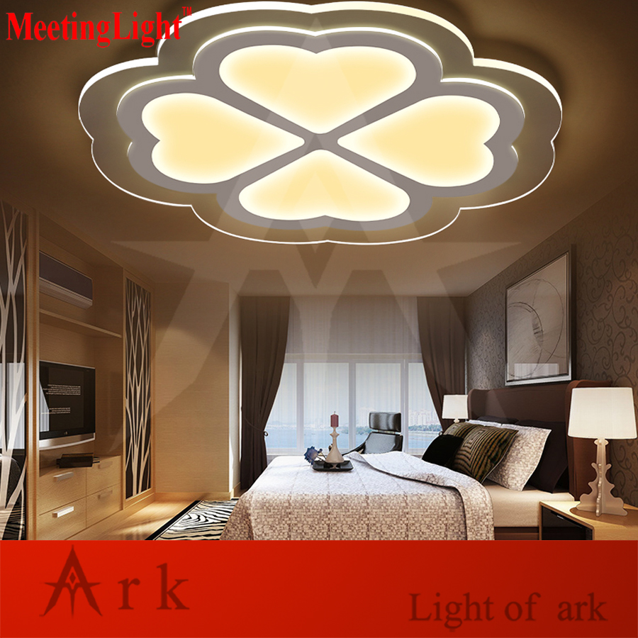 Meetinglight Modern 4545cm Love Shape Acrylic Remote 30ma Led Dimmer Control Dimming Ceiling Light Living Room Bed Study Lamp