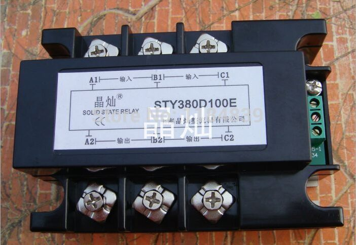Three phase Solid state relay Pressure regulator SCR3-100LE SSR DC 100A relay normally open single phase solid state relay ssr mgr 1 d48120 120a control dc ac 24 480v