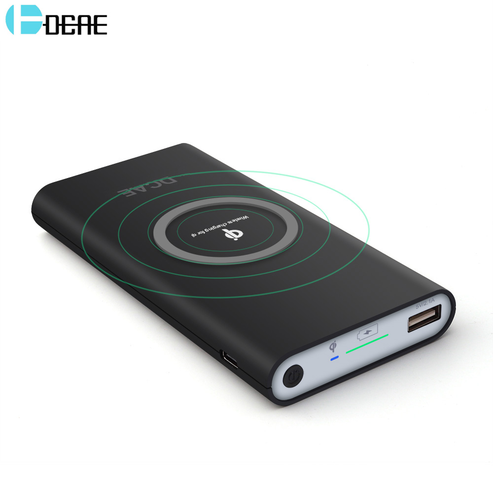 DCAE Qi Wireless Charger USB Power Bank for iPhone XS Max