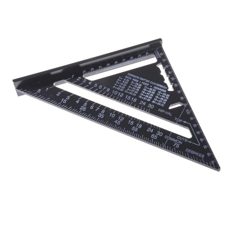 7 inch Imperial Metric Aluminum Alloy Triangle Ruler Right Angle ...