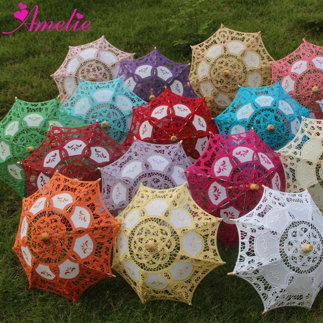 c9ed752a7a04b Kids Small Size Wedding Party Decoration Lace Parasol Baby Shower Gifts  Lace Umbrella Party Wedding Gifts Umbrella 20pcs