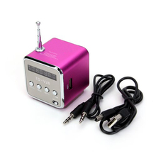 CES-TD-V26 Portable Mini Digital Speaker with Micro SD/TF/USB/FM Pink