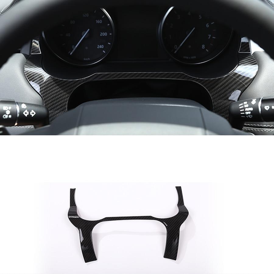 2019 Fashion Car Accessories for Range Rover Evoque 2011 2017 ABS Carbon Fiber Dashboard Frame Trim
