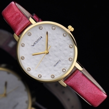 2016 new design Luxury brand WHESCHI genuine leather women watch luminous watch leather casual drees watch
