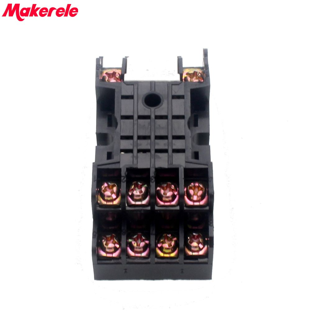 Hot Sale Pyf14a 14 Pin Terminal Relay Socket Base Black For My4nj Hh54p Power