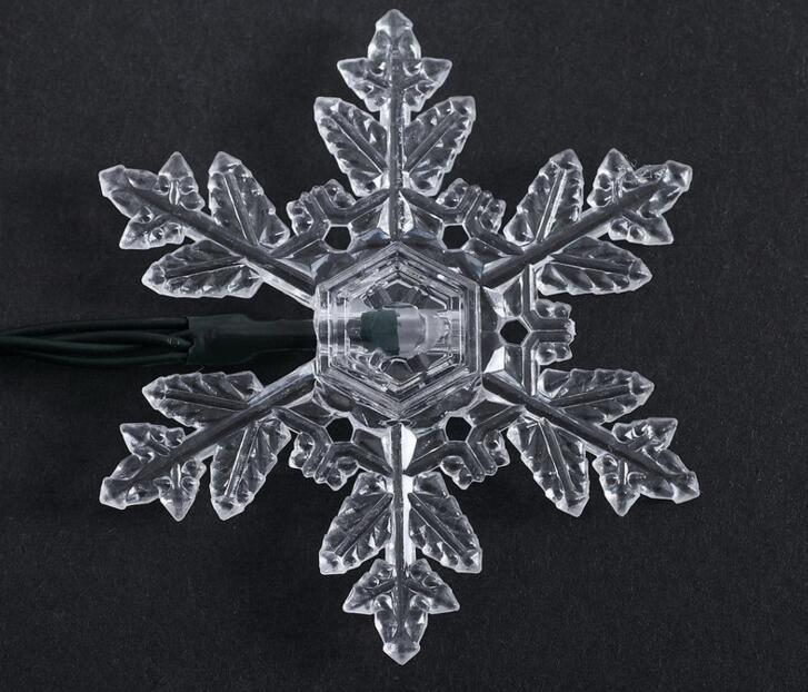 2pcs Solar Power LED Snowflake Lamp Light multicolour String Strap For Garland Wedding Christmas Venue Decoration