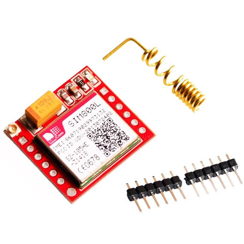 1 PZ SIM800L GSM GPRS Modulo PCB Scheda Micro SIM Quad Band Onboard Core Schede Antena Pannello Porta Seriale TTL per Arduino 3.7-4.2 V