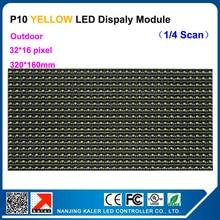 TEEHO P10 320*160 мм желтый светодиодный текстовый дисплей Панель знак этикетка Открытый водонепроницаемый 32*16 пикселей P10 Светодиодный модуль бегущий текстовый СВЕТОДИОДНЫЙ знак