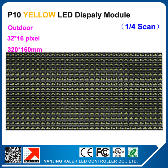 TEEHO P10 320*160mm yellow led text display panel sign lable outdoor waterproof 32*16pixel P10 led module running text led sigN
