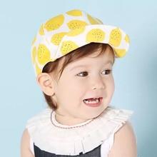 1 To 2 Years Old Kids Baseball Cap for Baby Hat Toddler Boys Girls Sun Lemon Fruit Cotton Yellow Navy Blue Photography
