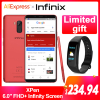 Global Version Infinix NOTE 5 STYLUS Business SmartPhone 64G 4G 6.0 FHD Screen Android One 16MP cell phone with XPen