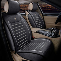 Universal Flax Breathable Car Seat Covers for MG GT MG5 MG6 MG7 Mg3 Mgtf Car Accessories Car styling Auto Covers 3D Black/white