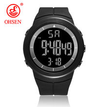 OHSEN Relogio Masculino Mens Watches Luxury Sport Army Outdoor 50m Waterproof Digital Watch Military Casual Men Wristwatches New(China)