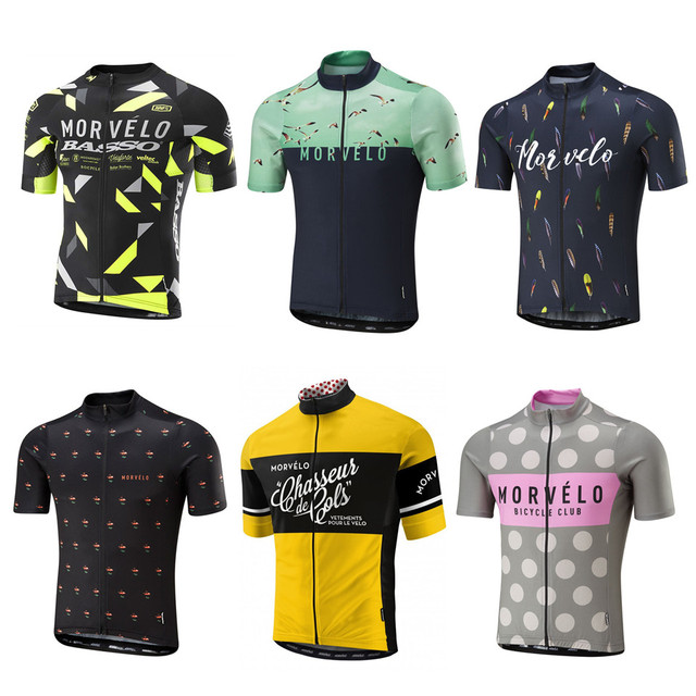 335b45994 Best Price 2018 Summer Morvelo Cycling Jersey short sleeve cycling shirt  Bike bicycle clothes Clothing Ropa