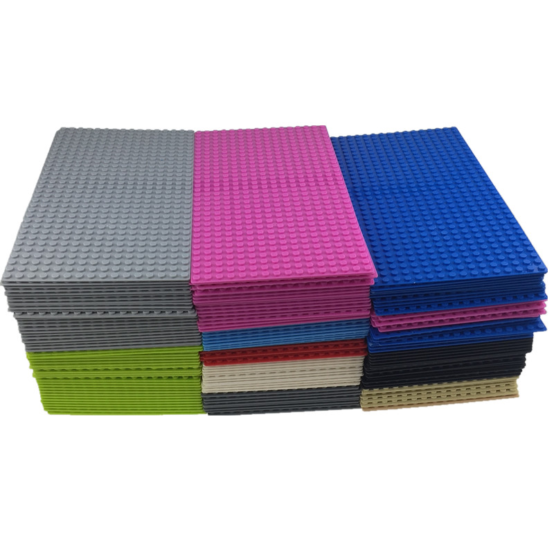 1pc 16*32 Dots Small Blocks Base Plate Building Blocks DIY <font><b>Baseplate</b></font> image