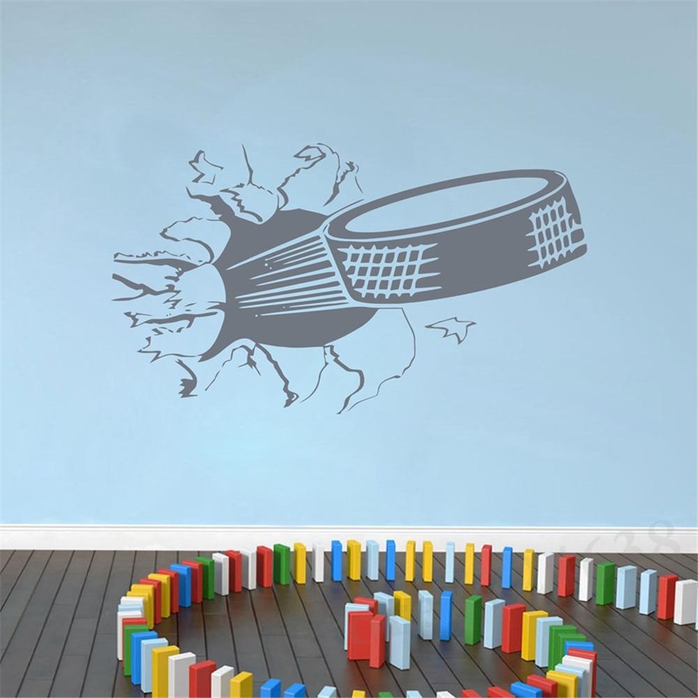 Aliexpresscom Buy Sports Ice Hockey Wall Art Sticker Puck - Lego wall decals vinylaliexpresscombuy free shipping lego evolution decal wall