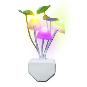 Image 5 - Thrisdar EU US Plug Mushroom LED Wall Lamp Novelty Fungus LED Night Light Baby Kids Bedroom Sleeping Light Sensor Night Lamps