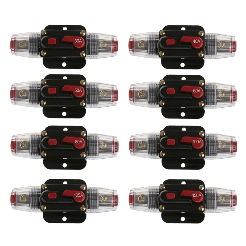 Car Audio de 50/80 Amp Disyuntor Interruptor de Rearme Manual Fusibles Agu Porta