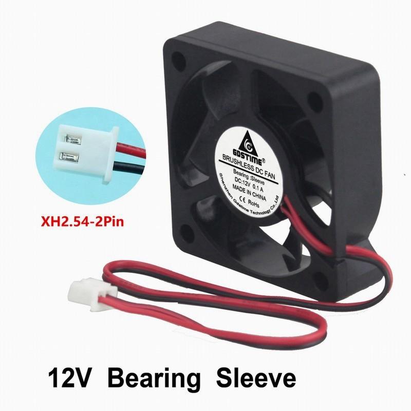 Small 50mm x 10mm DC Brushless 2-Pin 1//2Pcs 12V Mini Cooling Computer Fan