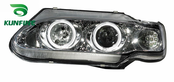 Pair Of Car Headlight Assembly For LADA 2115 Tuning Headlight Lamp Parts With Daytime Running Light Angel eyes Bi Xenon right combination headlight assembly for lifan s4121200