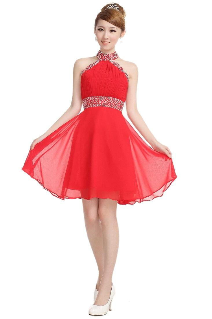 Two styles girls halter sleeveless empire waist little red for Fat girl wedding guest dress