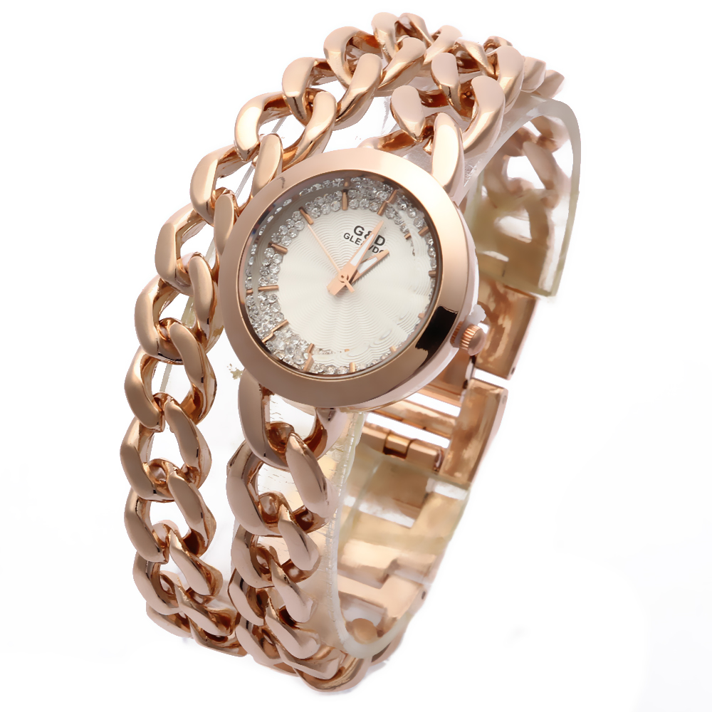 XG54 New Fashion Women Watch Women' Wrist Watch Quartz Watches Analog Stainless Steel Bracelet Luxury Gifts for Ladies Rose Gold колье coeur de lion 4737 10 0600