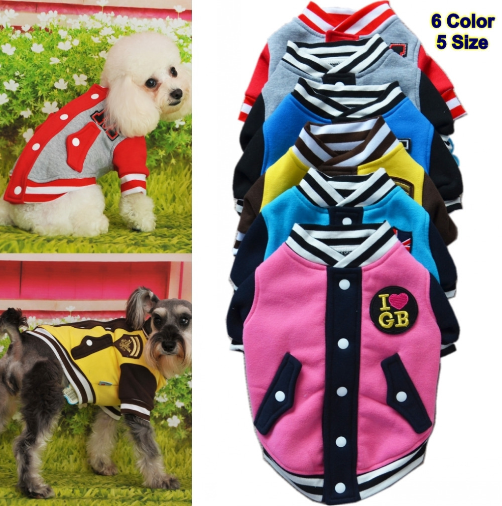 US $5.09 49% OFF|Clearance Spring Dog Pet Puppy Clothes Pet Apparel Baseball Uniform Jacket Winter Pet Clothes For Dog Warm Velvet Cat Coat Cloth in