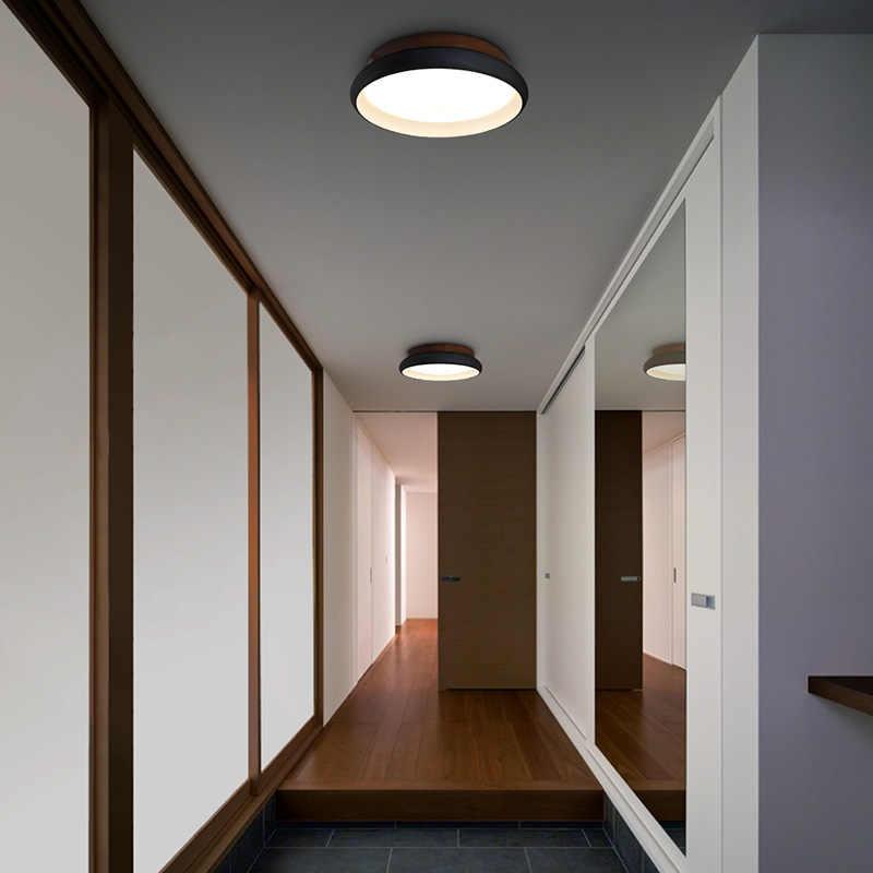 Aisilan LED plafonnier Style nordique lampe salon luminaire chambre cuisine Foyer en bois Surface montage lampe AC 220V