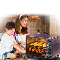 38L Oven Mini High Quality Electric Oven For Pizza Smokehouse Convection 1600W Power DKX A38A1 Household Appliances brown Color