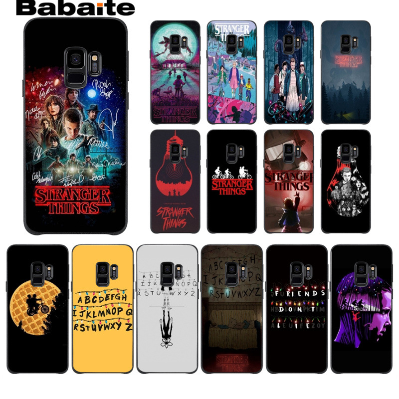 Stranger Things Christmas Lights <font><b>Soft</b></font> Shell Phone <font><b>case</b></font> Cover For <font><b>Samsung</b></font> Galaxy note 8 note9 s7 s6edge s9 s8 plus funda Babaite image