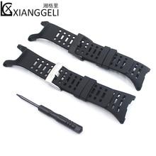 Купить с кэшбэком Watch Accessories Rubber Strap 24mm Fits SUUNTO AMBIT1 2S 2R 3R 3peak Outdoor Sports Men's Watch Band