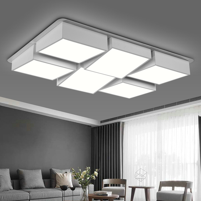 Box three dimensional iron acrylic acrylic ceiling lamp home living box three dimensional iron acrylic acrylic ceiling lamp home living room bedroom study lamp commercial mozeypictures Gallery