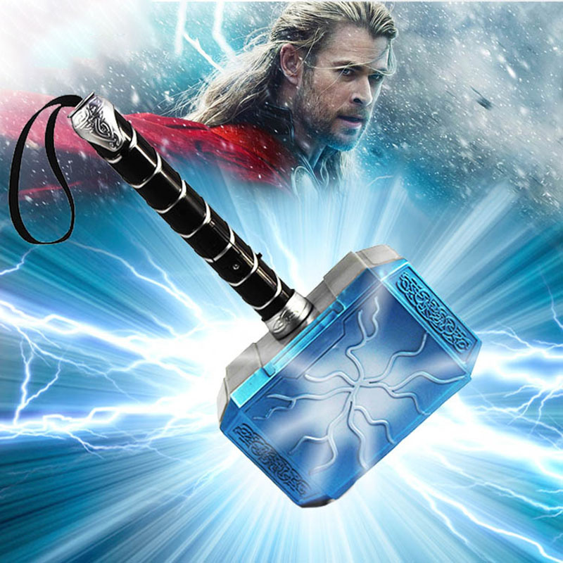 1:1 Thor Axe Hammer Captain America Shield Marvel Avengers 4 Endgame 1/6 <font><b>Scale</b></font> PVC&Pu toy <font><b>Figure</b></font> Collectible Model Toys children image