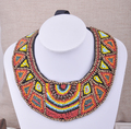 Bohemia vintage personalized multicolour wood beads female necklace fashion popular false collar