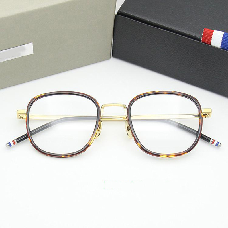 New York Brand Thom Big Round Glasses Frames Women Men TB906 High Quality Reading Eyeglasses Optical Presciption Eyewear Vintage
