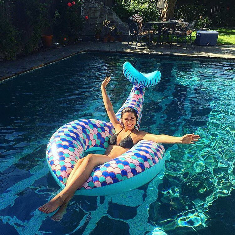 Air Inflatable Fish tail Pool Float Circle Mattress Swimming Float Inflatable Pool Ring Toys for Swimming ring Summer Toy
