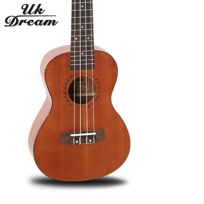 цена  Acoustic Guitar Ukulele 23 Inch Samll Guitar Musical Instruments Light Brown 4 Strings Guitar 18 Frets Guitar ukelele UC-118K  онлайн в 2017 году