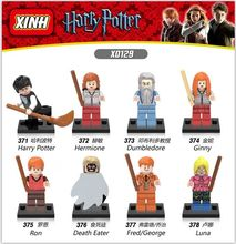 Single Sale DIY Dolls Harry Potter Dumbledore Hermione Death Eater Ron Luna Building Blocks and Models Toys For Children(China (Mainland))