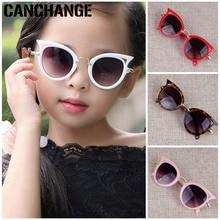 Новые детские солнцезащитные очки с кошачьим глазом для мальчиков и девочек, модные солнцезащитные очки с защитой от ультрафиолета, градиентные линзы UV400
