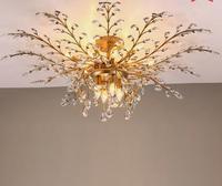 Гостиная Crystal Light Американская Деревня ретро ностальгические дерево скандинавский Утюг Спальня Ресторан потолочный светильник