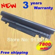 Free shipping New 7800 mAh BATTERY FOR SAMSUNG N145 N148 N150 N250 N250P N260 N260P Plus Black