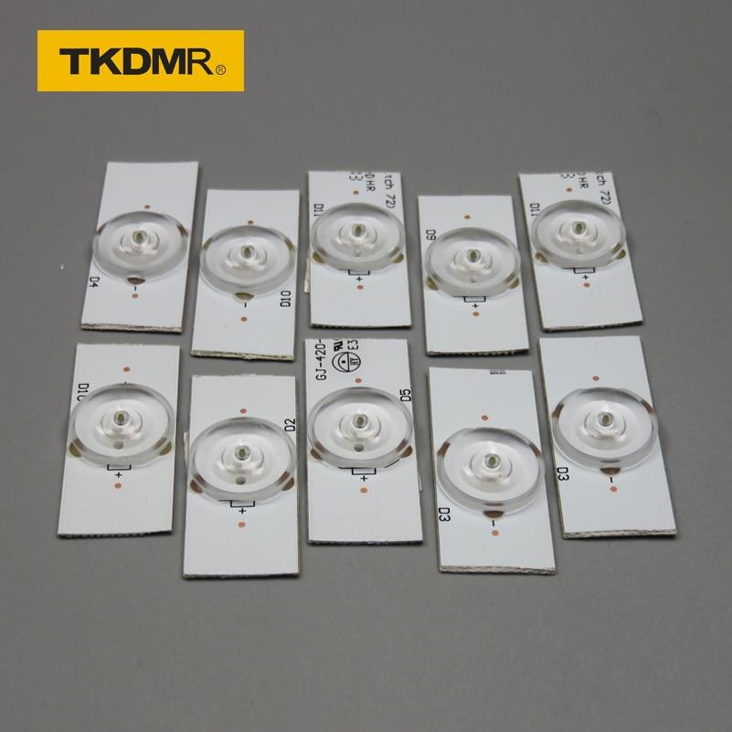 TKDMR 2 paket x LED şeritler 6v ampuller diyot 32 65 inç Tv optik Lens filtre arka w/ kablo çift taraflı bant 10 adet/paket|Işık Boncukları|Işıklar ve Aydınlatma -