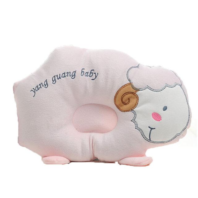 Travesseiro confortável Bebê Bonito Sheep Animal Padrão Travesseiro Kawaii Sobrenome Encosto de Cabeça Moda de Impressão Do Bebê Pillow Prevent Cabeça Chata