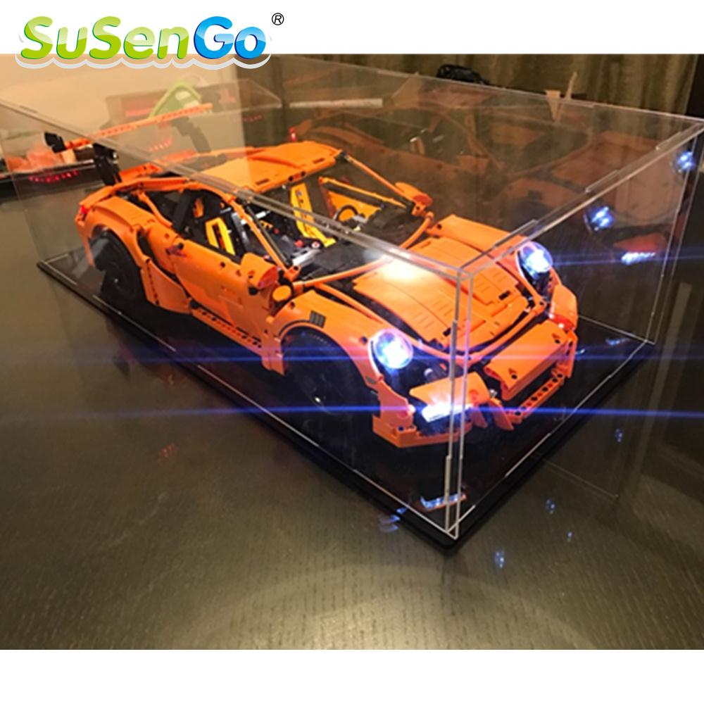 SuSenGo LED Light Kit For Porsche 911 GT3 RS Compatible With Famous Brand 42056 And 20001 Building Blocks Toys light Set lightaling led light set compatible with brand camping van 10220 building model creator decorate kit blocks toys